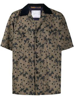 Sacai рубашка с принтом 2002202M