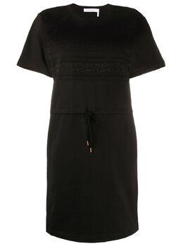 See By Chloe платье-футболка с кулиской CHS20SJR34097
