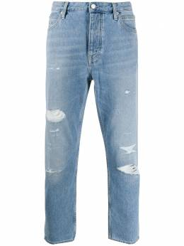 Calvin Klein Jeans укороченные джинсы с эффектом потертости J30J315939