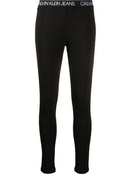 Calvin Klein Jeans легинсы с логотипом на поясе J20J213076