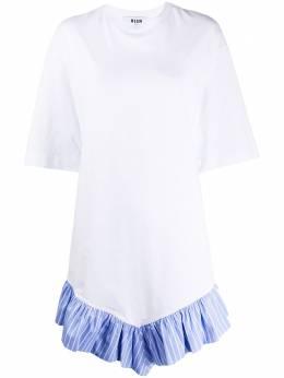 MSGM декорированное платье-футболка 2841MDA64207298