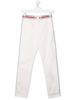 Elisabetta Franchi La Mia Bambina брюки кроя слим с завышенной талией EFPA85CE197