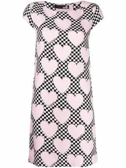 Love Moschino платье-футболка с принтом WVH7000T9938