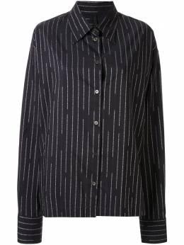 Unravel Project рубашка в полоску с логотипом UWGA052R20FAB0011001