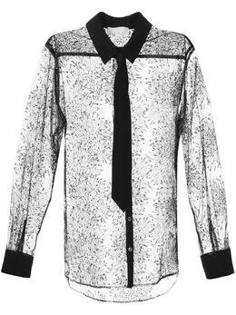 Fleur Du Mal рубашка Tulle Tuxedo TP02920100