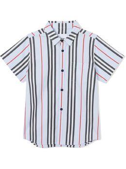 Burberry Kids рубашка в полоску Icon Stripe 8022440