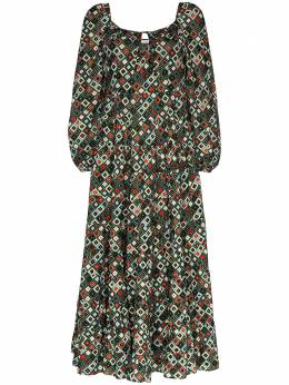 Rixo платье макси Marie с принтом CAMERON