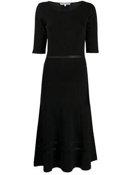 Patrizia Pepe расклешенное платье миди с короткими рукавами 8A0693A3JR
