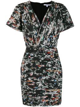 10 Crosby Derek Lam приталенное платье с цветочным принтом и рукавами кап TF91510WF