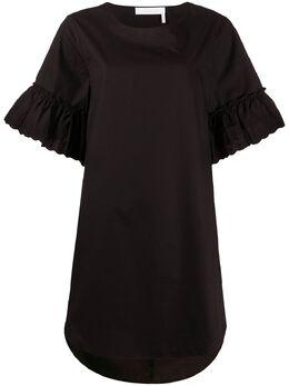 See By Chloe платье-футболка с расклешенными рукавами CHS20SRO24029