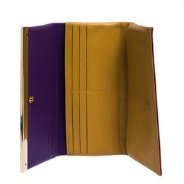 Carolina Herrera Multicolor Leather Trifold Continental Wallet 281222