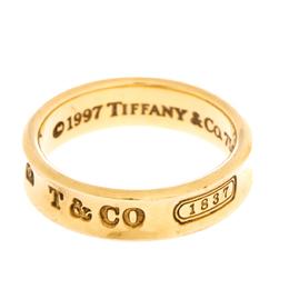 Tiffany & Co. Tiffany 1837 18K Yellow Gold Band Ring Size 63 280771