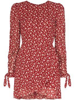 Reformation платье мини Lucita с запахом и цветочным принтом 1305530FAS