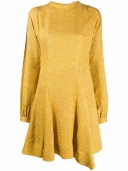 10 Crosby Derek Lam платье мини с длинными рукавами и принтом пейсли TF92516MP