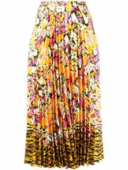 Saloni плиссированная юбка с цветочным принтом 22101416SC154954