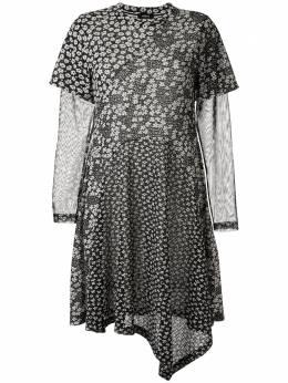 Goen.J платье асимметричного кроя с цветочным принтом GJ20RSDS14