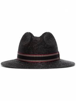 Saint Laurent соломенная шляпа трилби 6087593YB83
