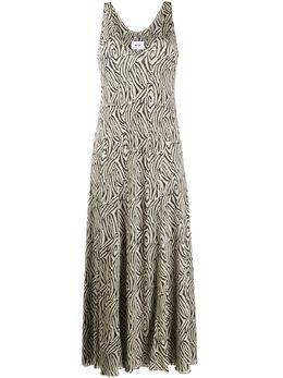 Nanushka платье-комбинация с зебровым узором WDR00242
