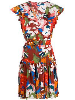 M Missoni расклешенное платье с цветочным принтом 2DG002622W0032