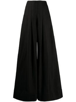 Jacquemus расклешенные брюки с завышенной талией 201PA0702990