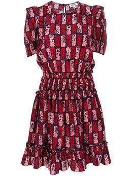 Kenzo платье с графичным принтом FA52RO183525