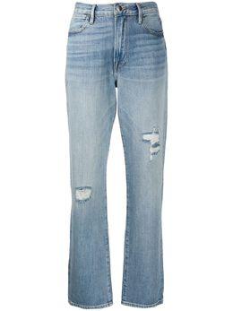 Frame джинсы прямого кроя с эффектом потертости LHW207A