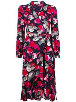 Dvf Diane Von Furstenberg платье с запахом и цветочным принтом 13676DVF
