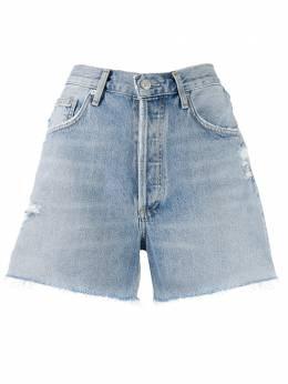 Agolde джинсовые шорты с эффектом потертости A083B1141