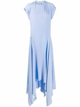 Erika Cavallini расклешенное платье асимметричного кроя P0ST02