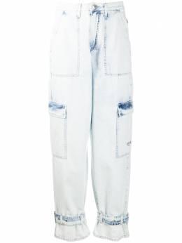 MSGM джинсы прямого кроя с эффектом потертости 2841MDP53L207237