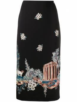 Vivetta юбка с завышенной талией и цветочным узором C0815351