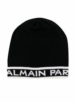 Balmain Kids трикотажная шапка с логотипом 6L0577LC950