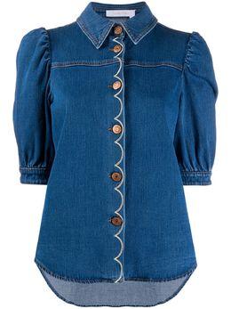 See By Chloe джинсовая рубашка с укороченными рукавами CHS20SDH0115045E