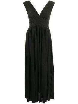 Liu Jo платье с присборенной талией и V-образным вырезом WA0433J4018