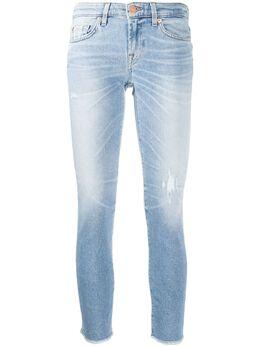 7 For All Mankind джинсы скинни с заниженной талией JSL41200EY