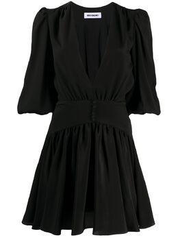 Brognano платье с V-образным вырезом и сборками 28BR1A14204266