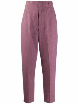 Isabel Marant Etoile брюки Loulia в клетку с завышенной талией PA148920P011E