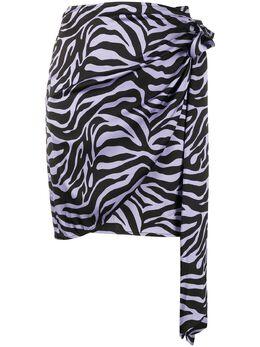 Andamane юбка с зебровым принтом и запахом Q02G050947