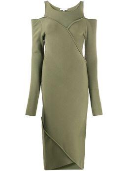 Patrizia Pepe приталенное платье с открытыми плечами 8A0624A6J7