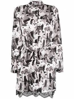 Liu Jo платье-рубашка с фестонами и принтом WA0055T9147