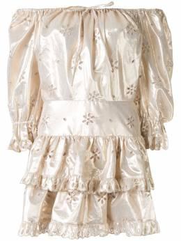 Alice Mccall платье мини Electric Galaxy с оборками AMP30202GOLD
