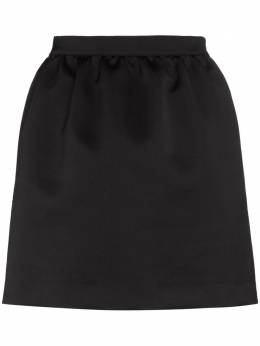 Heron Preston юбка мини с кулиской и нашивкой-логотипом HWCC011R208780041000