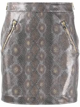 Patrizia Pepe юбка с завышенной талией и змеиным принтом 8L0349A6E4