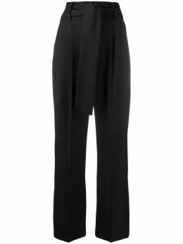 MSGM брюки с завышенной талией и завязками на поясе 2841MDP23207118