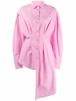 Natasha Zinko приталенная рубашка асимметричного кроя R2020309