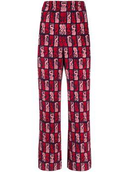Kenzo брюки с принтом FA52PA014525
