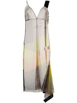 Erika Cavallini полупрозрачное платье миди на бретелях POSZ01