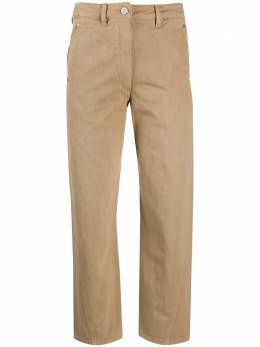 Lemaire укороченные джинсы с завышенной талией W201PA220LD034