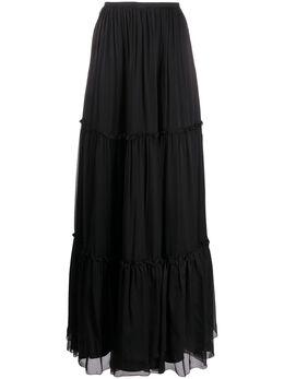 Federica Tosi ярусная юбка макси FTE20GO1090CH0006
