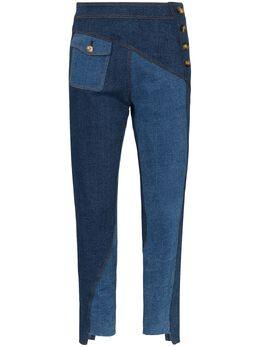 Rejina Pyo джинсы скинни Lucie в технике пэчворк E105CottonDenimBlueMix